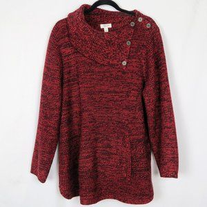 Style & Co Cowl Neck Sweater with Buttons
